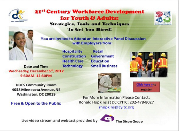 21st Century Workforce Development for Youth and Adults