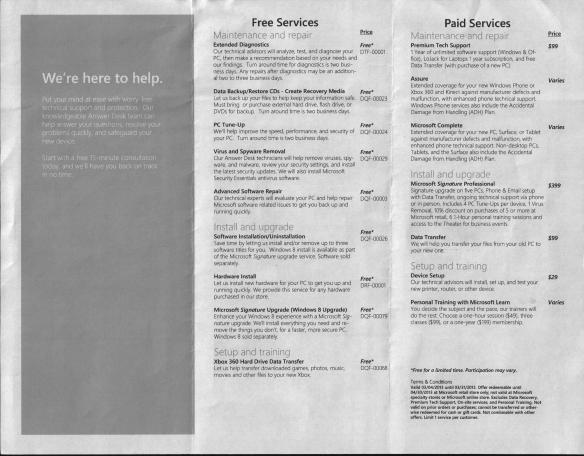 Microsoft Answer Desk Services