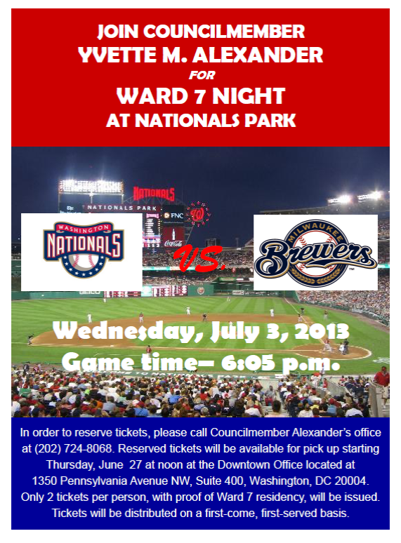 Ward 7 Night Nationals Park