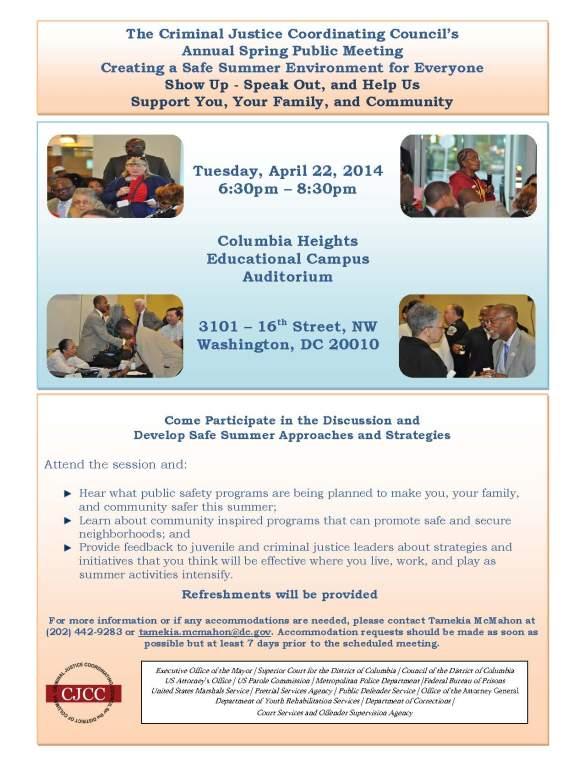 CJCCs 2014 Annual Spring Public Meeting