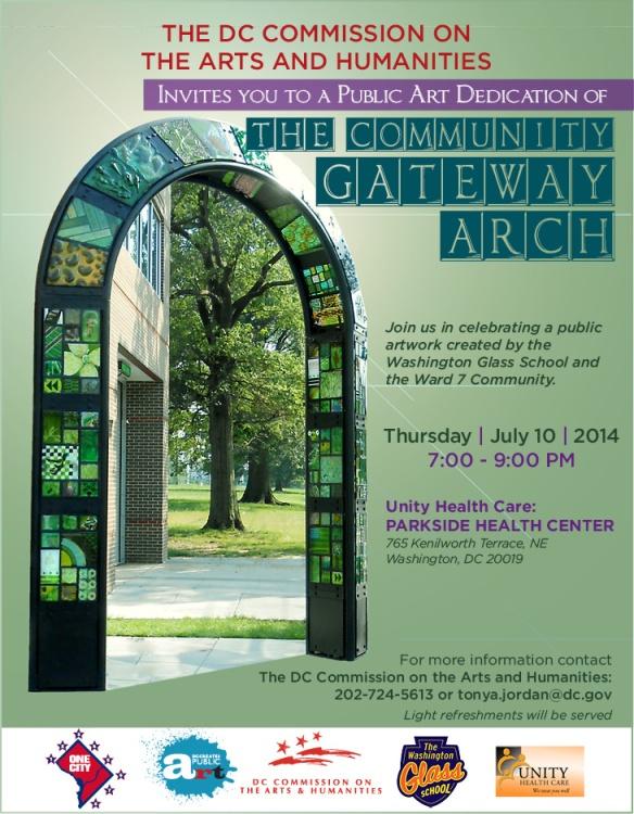 JULY 10 Gateway Arch Dedication FLIER