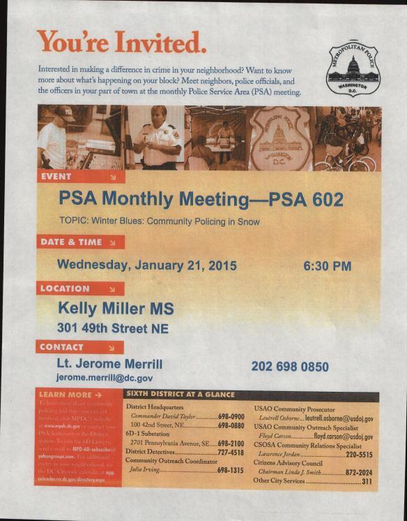 PSA602 Flyer