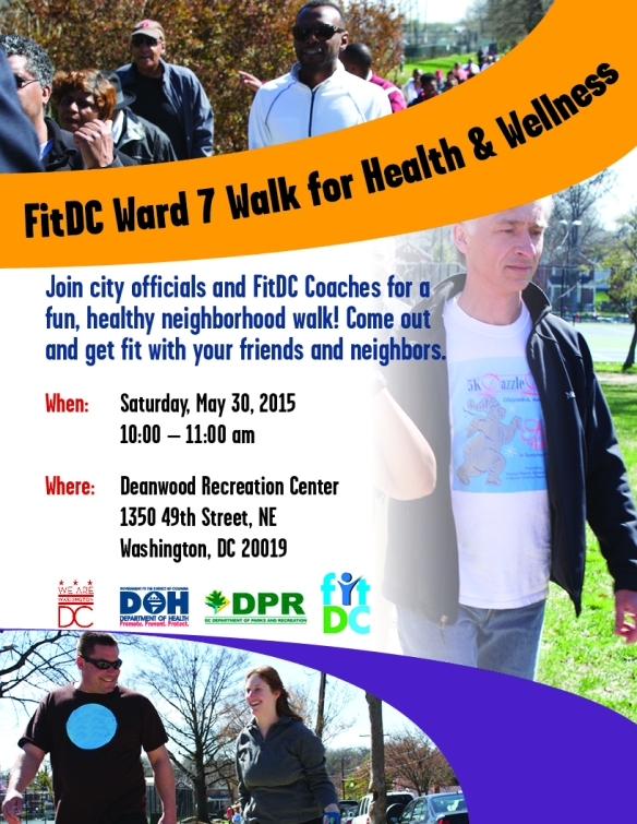 FitDC ward 7 walk flyer